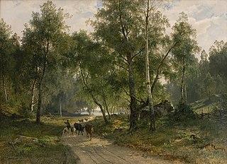 Beneath the Birches. Motif from Mälaren