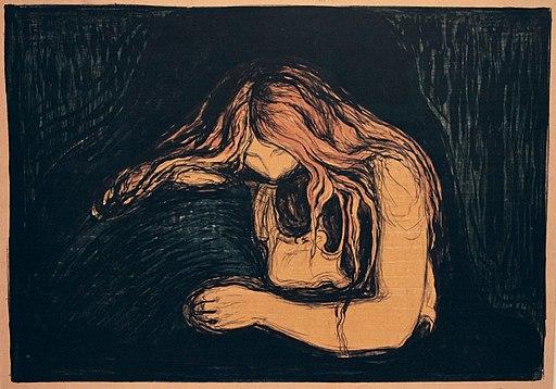 Edvard Munch. Vampire II (Vampyr II). 1895-1902 (25049240206)