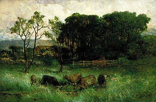 Untitled (five cows in pasture)