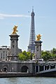 Eiffel Tower and Pont Alexandre III from Seine.jpg