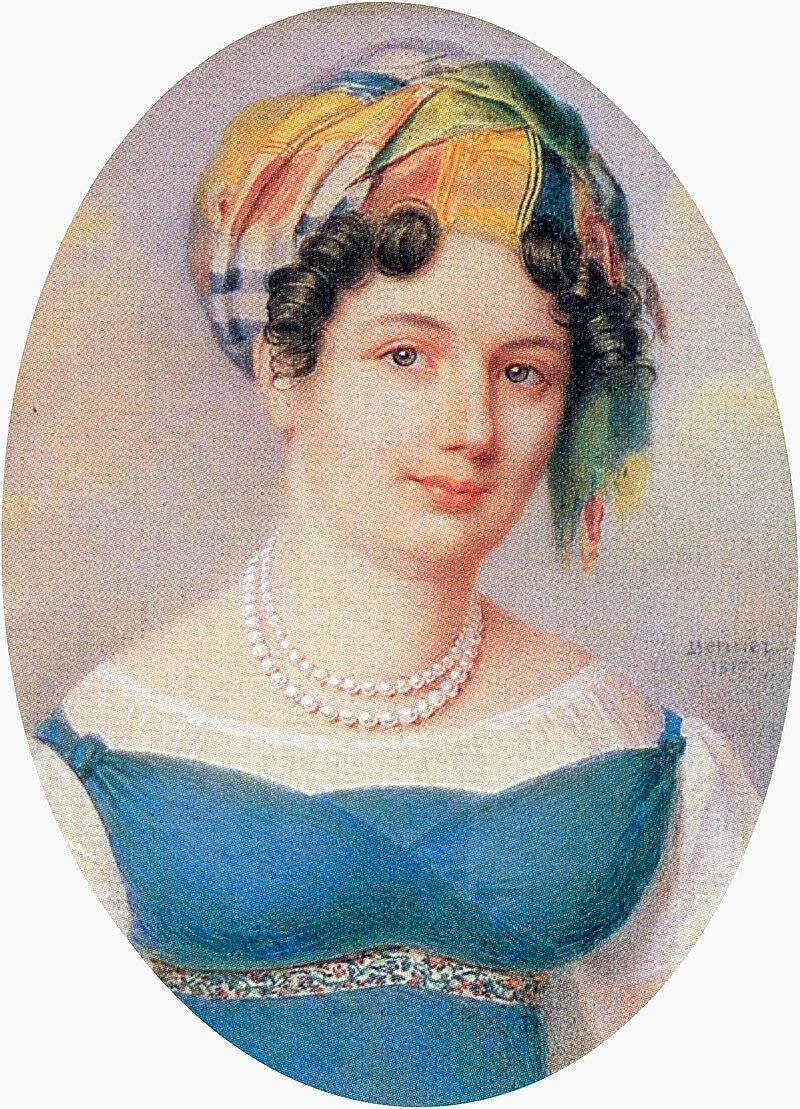 Екатерина Карамзина - Я. Беннер (1817, Эрмитаж) .jpg