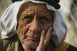 Elderly refugee portrait captured in Khazer frontline camp. Northern Iraq, Western Asia-2. 10 November, 2016.jpg
