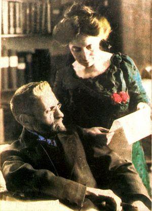Eliezer Ben-Yehuda - Ben-Yehuda and wife Hemda, 1912