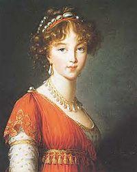 Elisabeth Alexejewna als junge Kaiserin, ein Gemälde von Elisabeth Vigée-Lebrun (Quelle: Wikimedia)