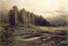 Алексей Саврасов.  Лосиный остров в Сокольниках.  1869 г.