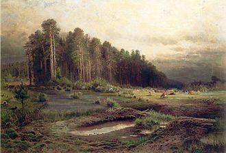 Losiny Ostrov National Park - Losiny Ostrov in Sokolniki by Alexei Savrasov (1869)
