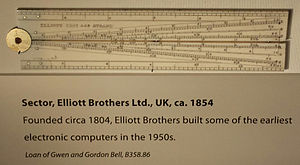 Elliott Brothers (computer company) - Sector, made by Elliott Brothers Ltd, UK, ca. 1854