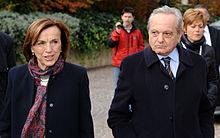 Elsa Fornero con il marito Mario Deaglio (2012).