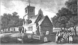 Radlett murder - The burial of William Weare at St Nicholas parish church in Elstree