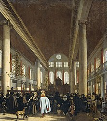 Emanuel de Witte: Interior of the Portuguese synagogue in Amsterdam