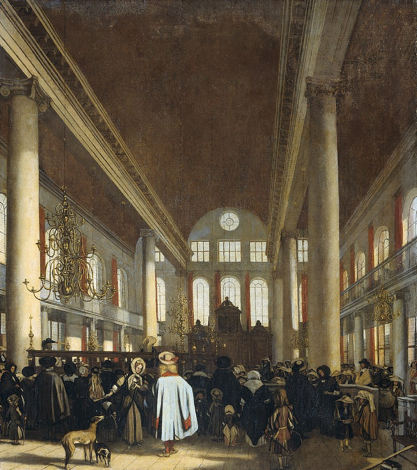 Emanuel de Witte - Interieur van de Portugese synagoge te Amsterdam