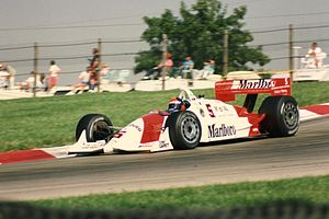 Mid-Ohio Sports Car Course - Emerson Fittipaldi navigates the Keyhole section of the course in a Penske Racing IndyCar