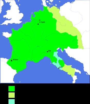 L'empire de Charlemagne