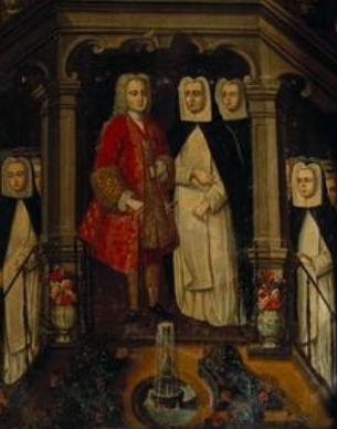 Encontro de D. João II com Santa Joana - Manuel Ferreira e Sousa