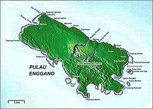 Enggano Island - Enggano Island map