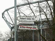 Enke Robert Straßenschild Hannover