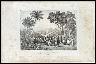Johann Moritz Rugendas - Enterro de um Negro. Lithograph by Johann Moritz Rugendas.