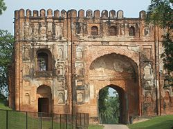 The historical entry gate to Gaur