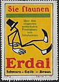 Erdal - Sie staunen, Reklamemarke 1914.jpg