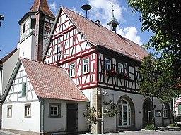 Altes Rathaus in Erligheim, erbaut 1749, Rathaus bis 1989