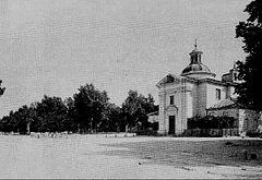El paseo de la Florida y la ermita de San Antonio hacia 1890, escenario en el que se desarrolla este segundo acto.