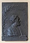 Ernst Fleischl von Marxow (1846-1891), basrelief (bronce) Nr. 84 in the Arkadenhof of the University of Vienna-1989.jpg