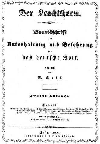 Ernst Keil - Second edition of The Lighthouse, 1846