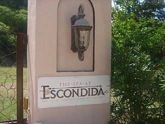 Texas Country Reporter - Texas Country Reporter operates a boutique hotel and spa north of Bandera known as the Escondida Resort and Spa. When the resort opened, TCR ran a two-part episode on its development.