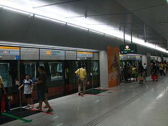 Esplanade MRT station - Platform level of Esplanade MRT station.