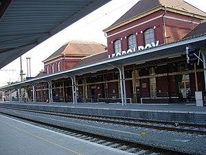 Leopoldov - Train station in Leopoldov