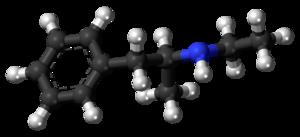 Etilamfetamine - Image: Etilamfetamine molecule ball