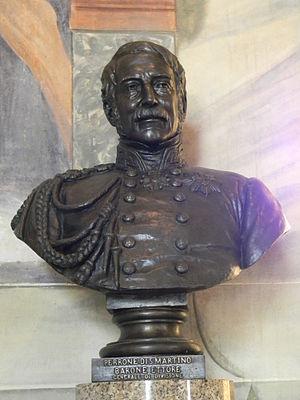 Ettore Perrone di San Martino - Perrone di San Martino's bust, 1850s.