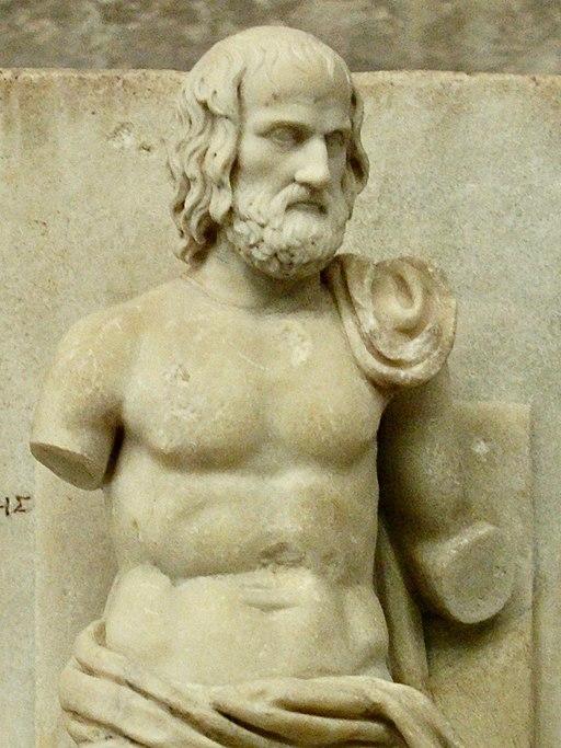 Euripide Louvre Ma343 détail buste