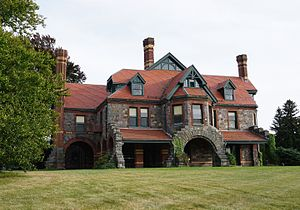 Eustis Estate - Image: Eustis Estate, Canton Ave., Milton, Massachusetts