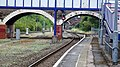 Exeter Central station, London Waterloo Line.. Platform 2 end. View towards St James Park Halt.jpg