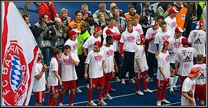 Louis van Gaal - Van Gaal and Bayern Munich players celebrating their Bundesliga victory in 2010.