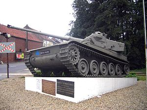 Battle of Montcornet - An AMX-13 on the Montcornet memorial