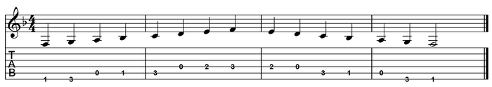F major scale one octave (open position).png