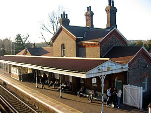 Falmer railway station - Falmer railway station in 2005