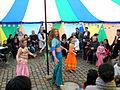 Familienkonferenz Hannover Nordstadt 131b3c Veranstaltungszelt Orientalischer Bauchtanz mit Alexandra vom Tanzraum und Schülerinnen.jpg