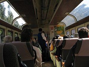 PeruRail - PeruRail Vistadome car interior