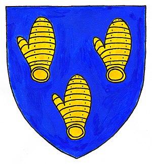 Vere Fane, 4th Earl of Westmorland - Coat of arms of Vere Fane, 4th Earl of Westmorland: Azure, three dexter gauntlets back affrontée or