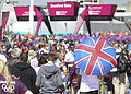 Fans outside the Olympic Stadium (7724417886).jpg