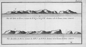 History of the Faroe Islands - The Faroe Islands as seen by the French navigator Yves-Joseph de Kerguelen-Trémarec in 1767.