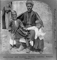 Father and -2- children, showing costumes, Ramallah, Palestine.tif