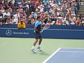 Federer on Armstrong (shots and serves) (2) (7856699688).jpg