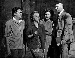 Federico Fellini - Fellini, Masina, Carla del Poggio and Alberto Lattuada, 1952