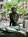 Female statue closeup of the Dialogue sculpture, Brisbane, Queensland, 2020.jpg