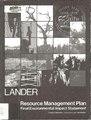 Final resource management plan-environmental impact statement for the Lander Resource Area, Lander, Wyoming (IA finalresourceman30myer).pdf