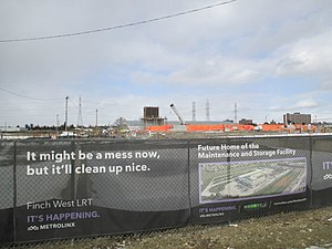 Finch West LRT depot under construction (2020-02).jpg